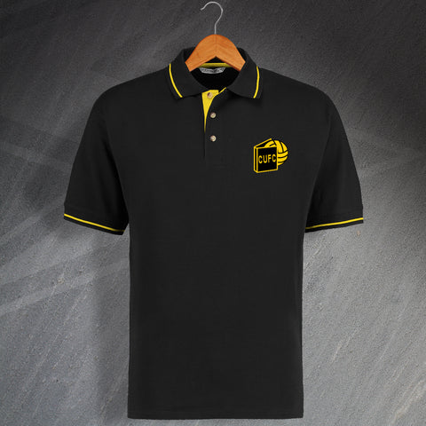 Cambridge Football Polo Shirt Embroidered Contrast 1974