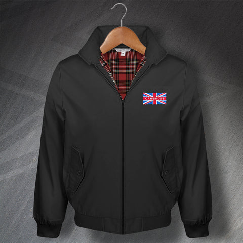 Cambridge Classic Harrington Jacket with Embroidered Union Jack Flag