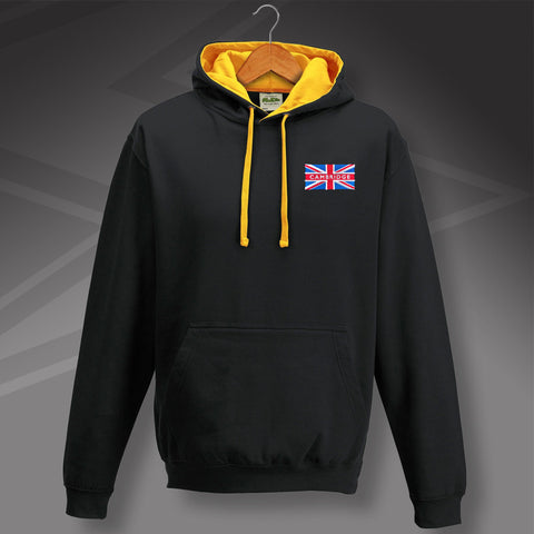 Cambridge Football Hoodie Embroidered Contrast Union Jack
