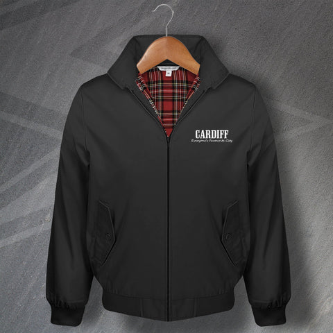 Cardiff Harrington Jacket Embroidered Everyone's Favourite City