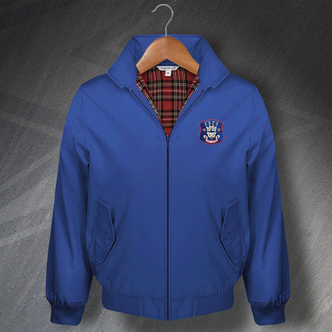 Retro Carlisle Classic Harrington Jacket with Embroidered Badge