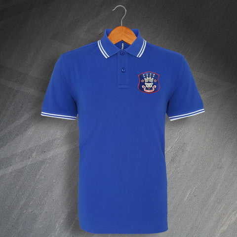 Retro Carlisle Embroidered Tipped Polo Shirt