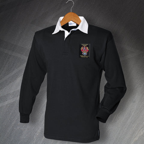 Castleford Rugby Shirt Embroidered Long Sleeve 1969