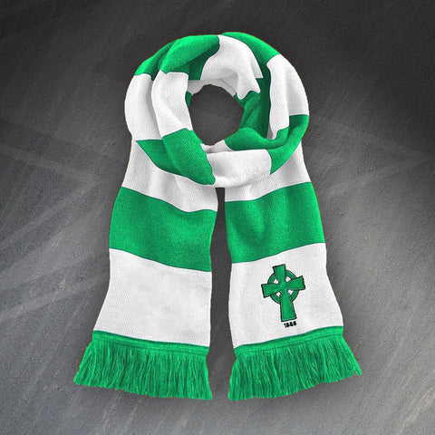 Retro Celtic 1888 Bar Scarf with Embroidered Badges