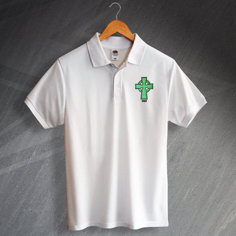 Retro Celtic 1888 Polo Shirt with Embroidered Badge