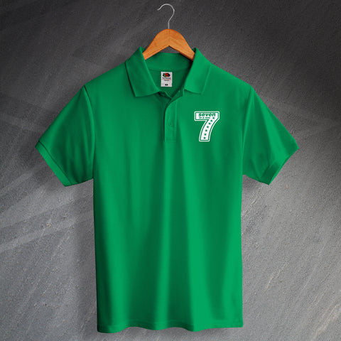 Celtic Football Polo Shirt Printed 7 Seven in a Row