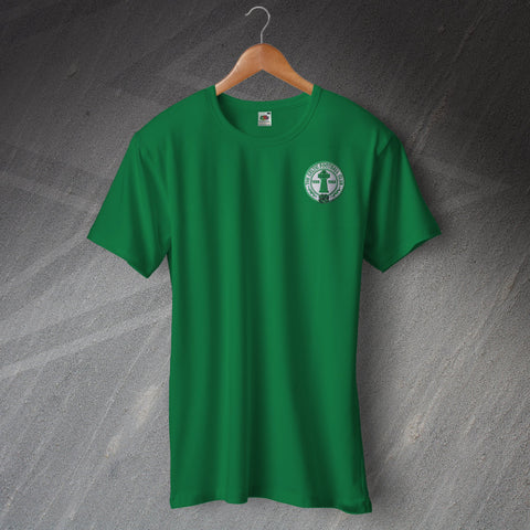 Celtic Football T-Shirt Embroidered Centenary