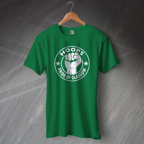 Celtic Football T-Shirt Hoops Pride of Glasgow