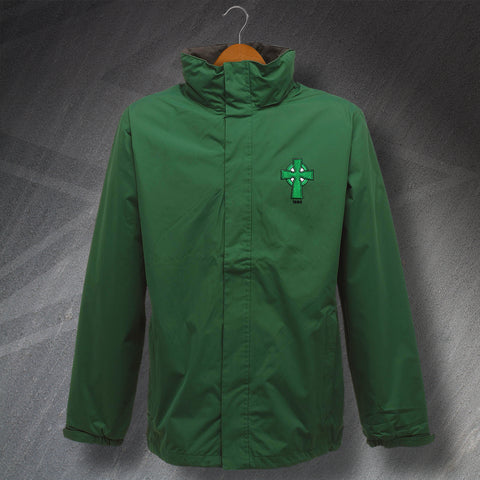 Retro Celtic Waterproof Jacket with Embroidered 1888 Badge