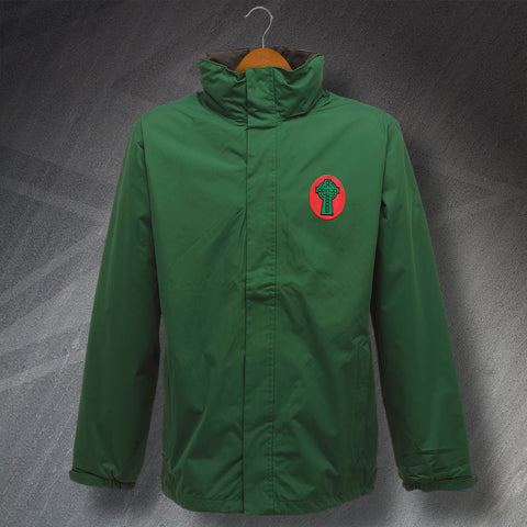 Retro Celtic Waterproof Jacket with Embroidered 1890 Badge