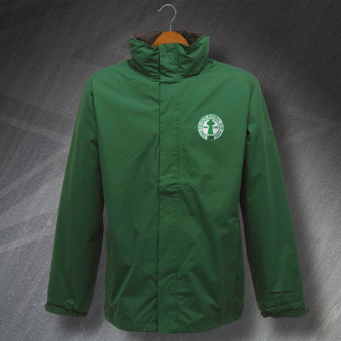 Retro Celtic Waterproof Jacket with Embroidered Centenary Badge