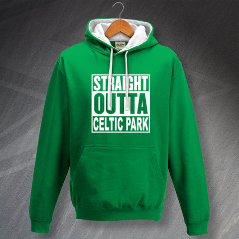 Celtic Hoodie Contrast Straight Outta Celtic Park