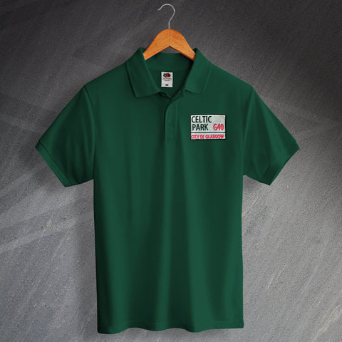 Celtic Park Embroidered Polo Shirt