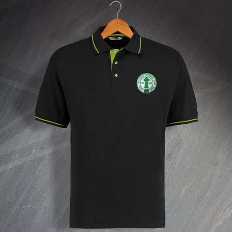 Celtic Football Polo Shirt Embroidered Contrast Centenary
