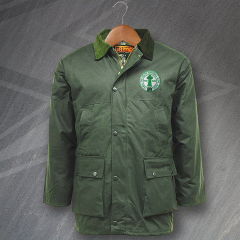 Celtic Football Wax Jacket Embroidered Padded Centenary