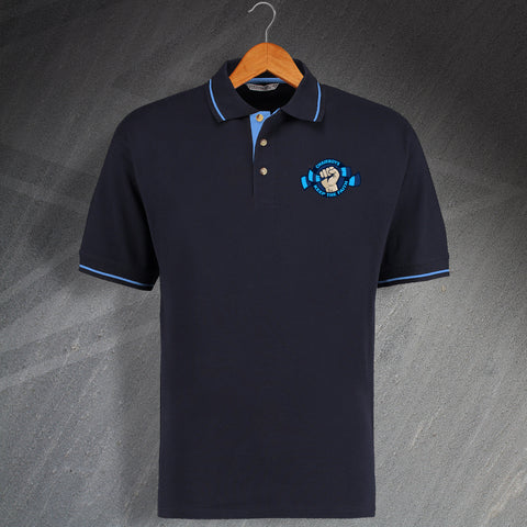 Wycombe Football Polo Shirt Embroidered Contrast Chairboys Keep The Faith