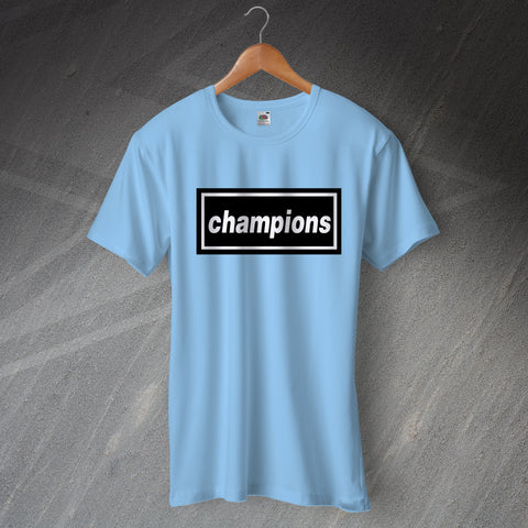 Manchester City Football T-Shirt Champions