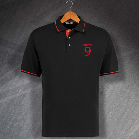 Charlton 9 Embroidered Contrast Polo Shirt