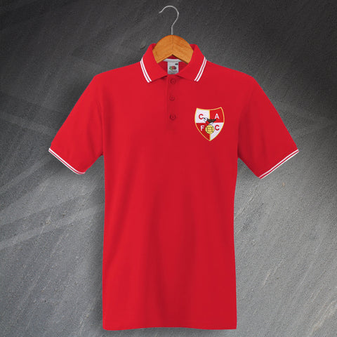Charlton Football Polo Shirt Embroidered Tipped 1946