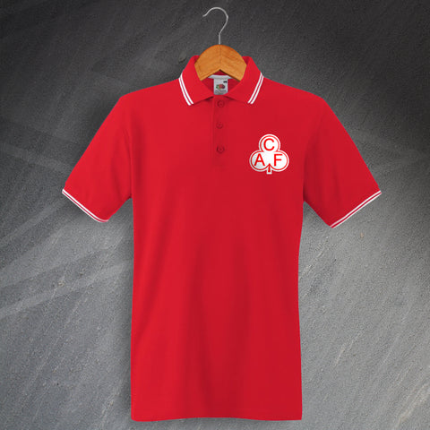 Charlton Football Polo Shirt Embroidered Tipped 1935