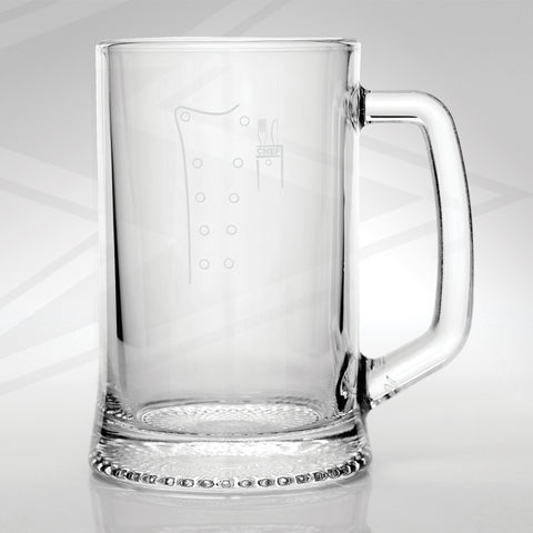 Chef Uniform Engraved Glass Tankard