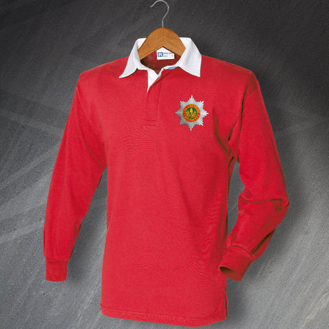 Cheshire Regiment Rugby Shirt Embroidered Long Sleeve