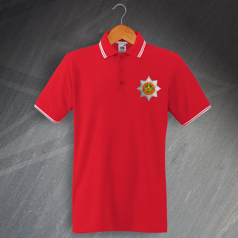 Cheshire Regiment Polo Shirt Embroidered Tipped