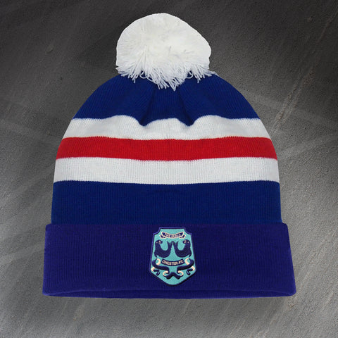 Chester Football Bobble Hat Embroidered 1974