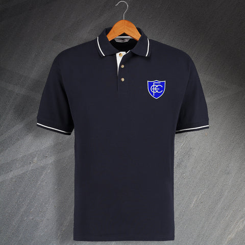 Chesterfield Football Polo Shirt Embroidered Contrast 1958