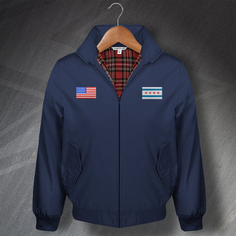 Chicago United States Embroidered Classic Harrington Jacket