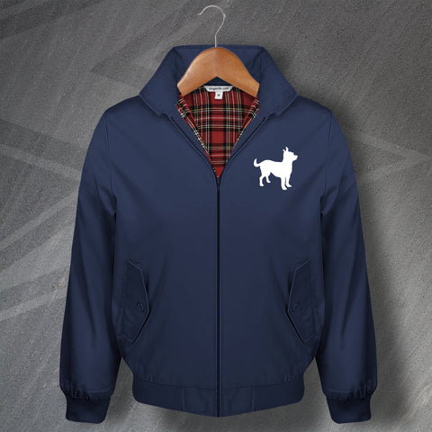 Chihuahua Embroidered Classic Harrington Jacket