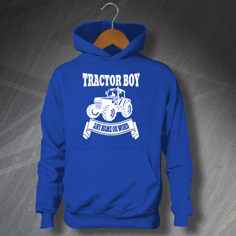 Ipswich Football Hoodie Children's Personalised Tractor Boy
