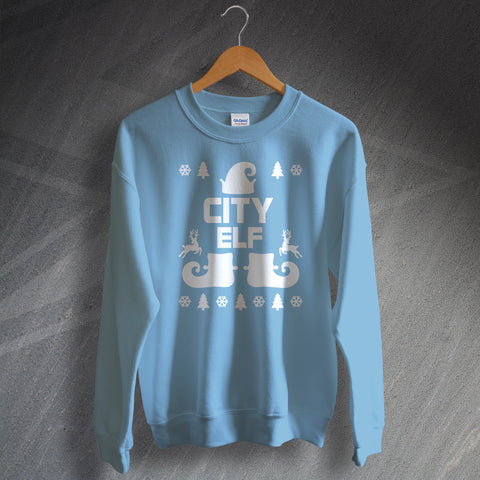City Football Christmas Jumper City Elf