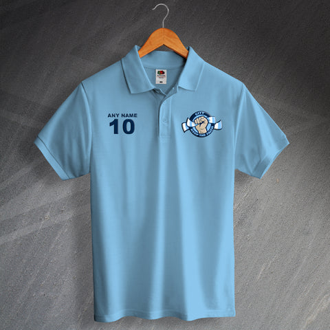 City Football Polo Shirt Printed Personalised Keep The Faith