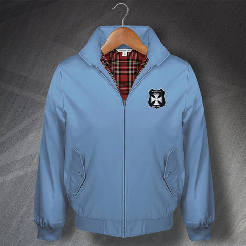 Man City Football Harrington Jacket Embroidered St. Mark's (West Gorton) Shield