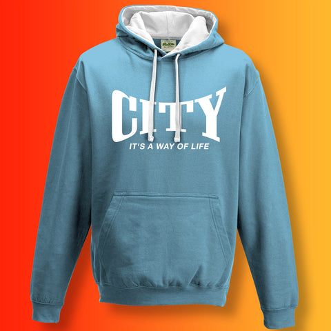 City It's a Way of Life Contrast Hoodie