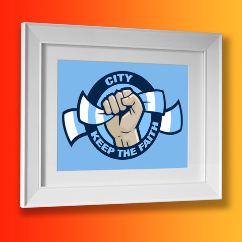 City Keep The Faith Framed Print