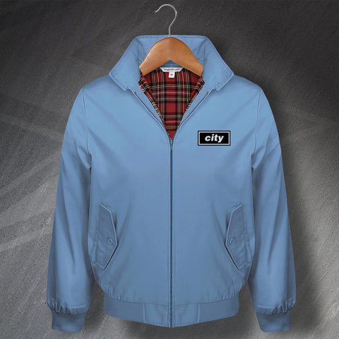 Man City Football Harrington Jacket Embroidered
