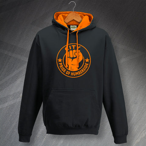 Hull Football Hoodie Contrast City Pride of Humberside