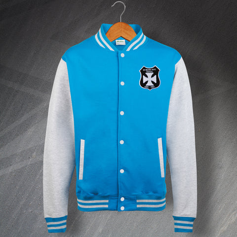 Man City Football Varsity Jacket Embroidered St. Mark's (West Gorton) Shield