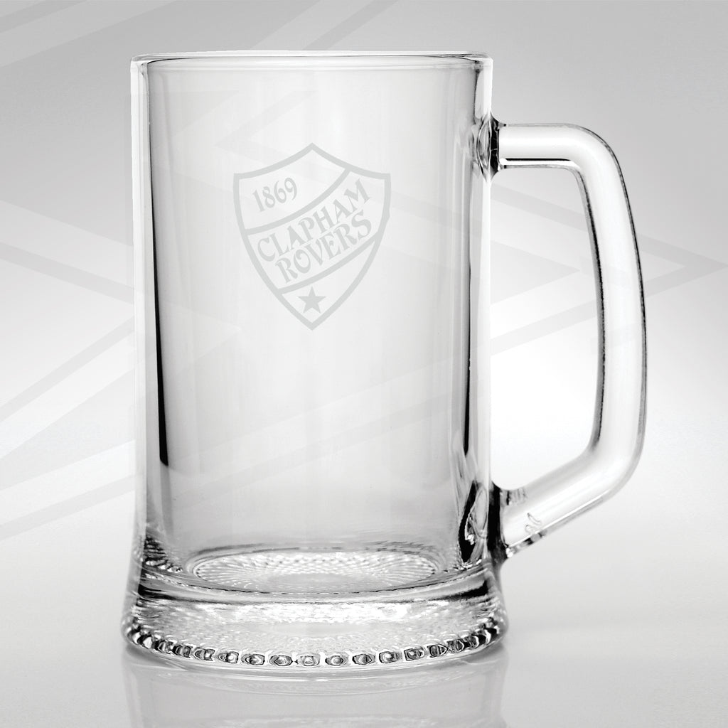 Retro Clapham Rovers Glass Tankard
