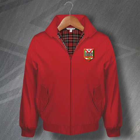 Leyton Orient Football Harrington Jacket Embroidered Clapton Orient