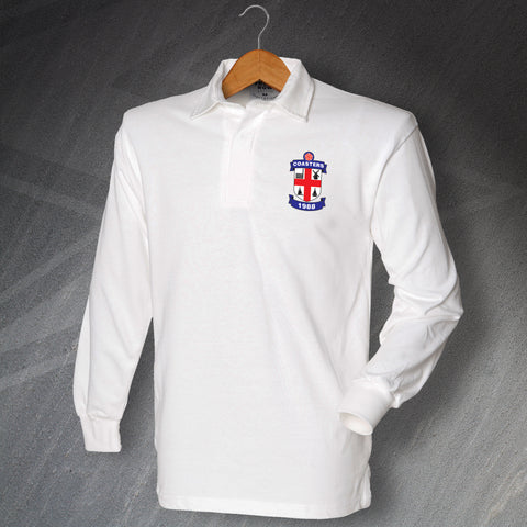Retro Coasters Long Sleeve Football Shirt with Embroidered Badge