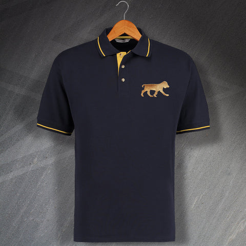 Cocker Spaniel Polo Shirt Embroidered Contrast