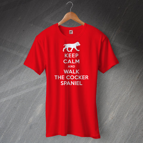 Keep Calm and Walk The Cocker Spaniel T-Shirt