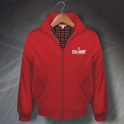 Fleetwood Football Harrington Jacket Embroidered The Cod Army It's a Way of Life