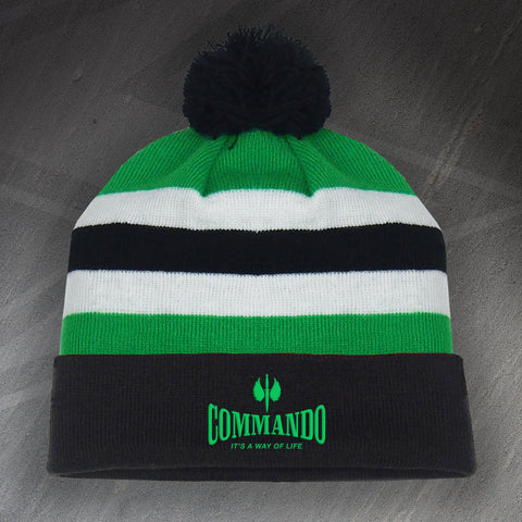 Commando Bobble Hat Embroidered It's a Way of Life