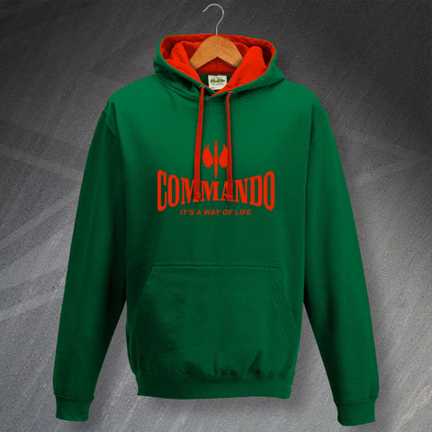 Commando Hoodie Contrast It's a Way of Life