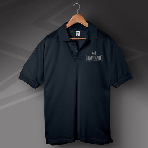Commando It's a Way of Life Polo Shirt