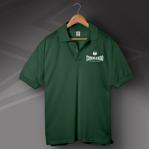 Commando Polo Shirt Printed It's a Way of Life
